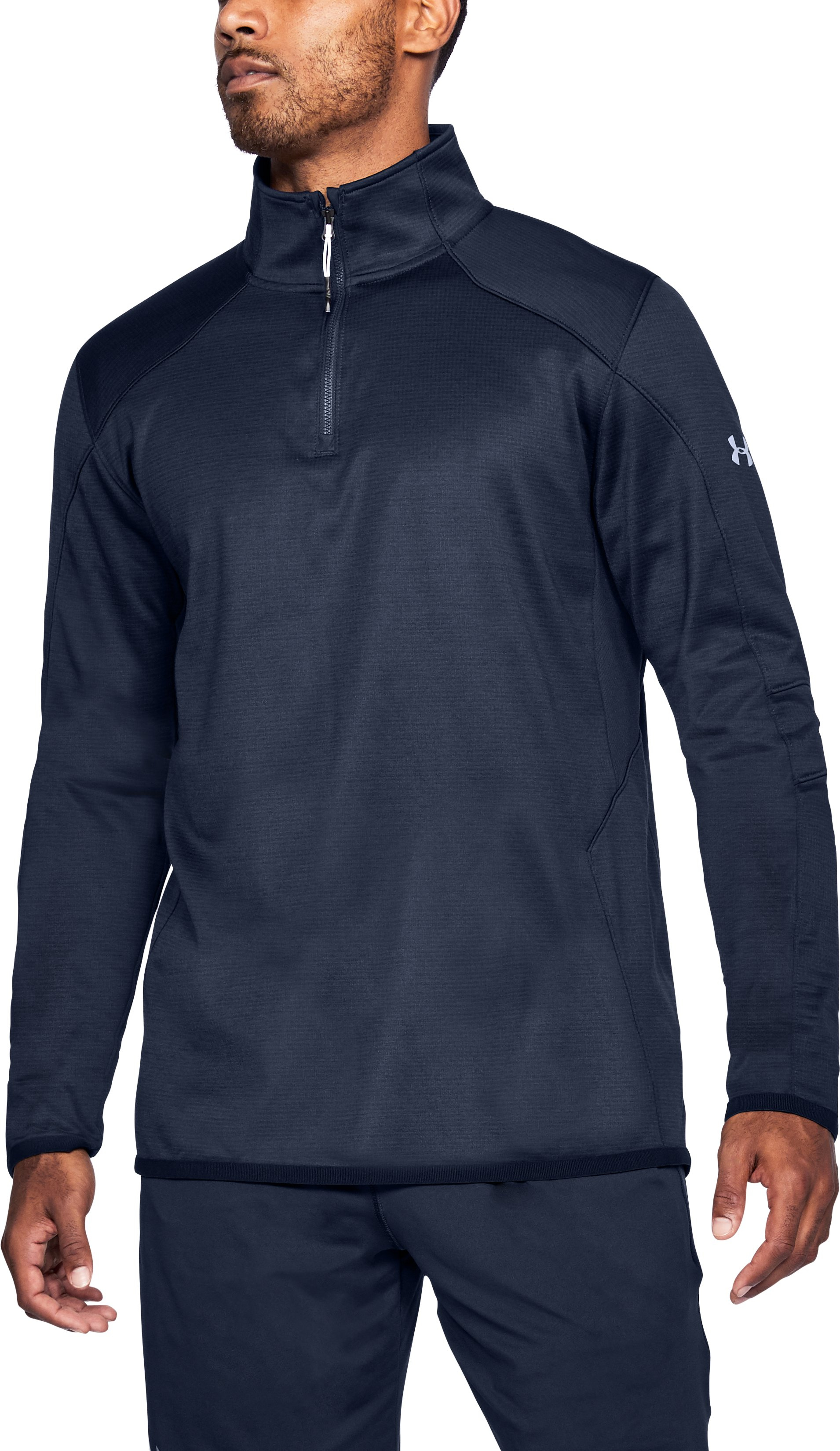 Men's ColdGear® Reactor Fleece ¼ Zip, Midnight Navy