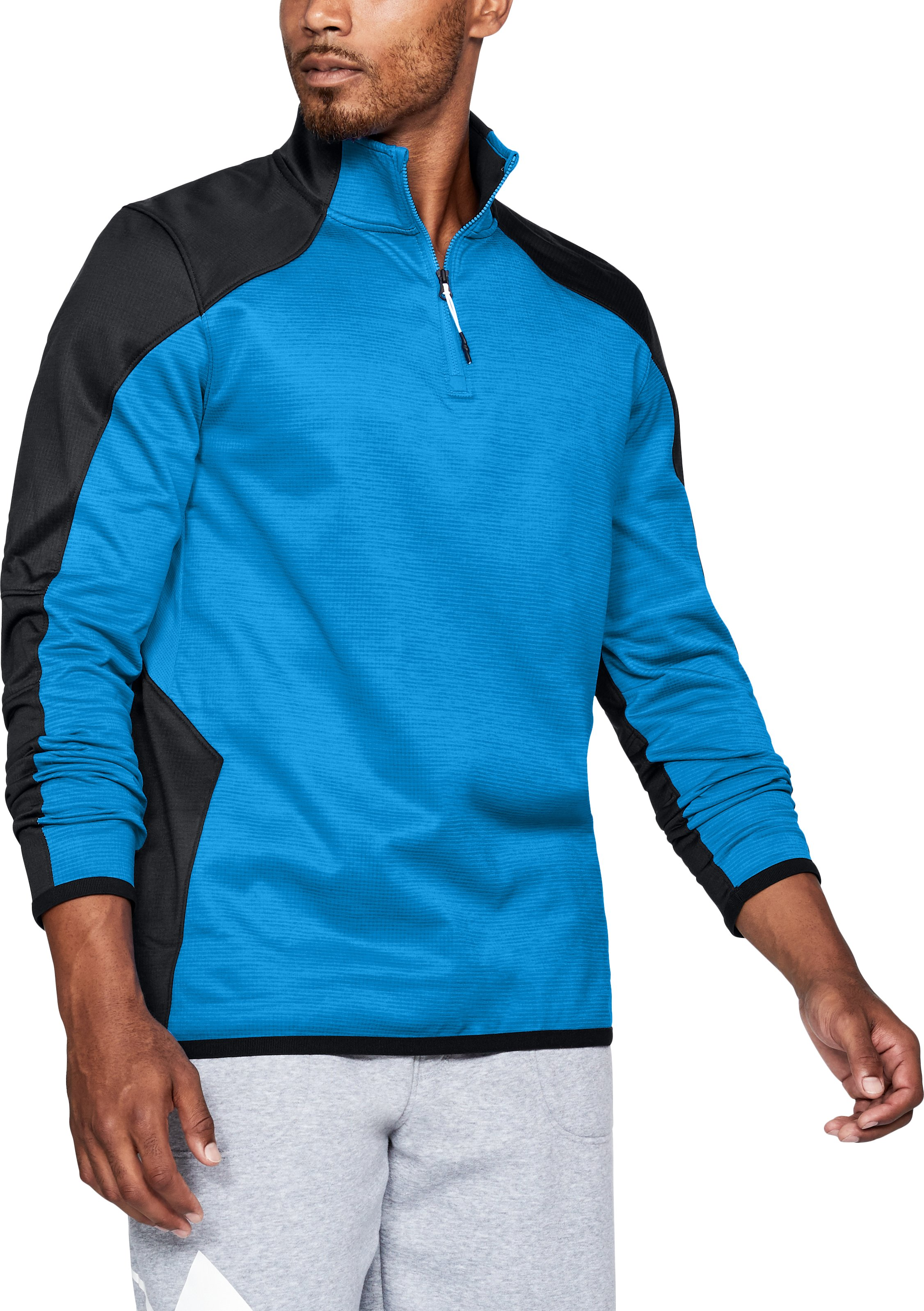 Men's ColdGear® Reactor Fleece ¼ Zip, MAKO BLUE