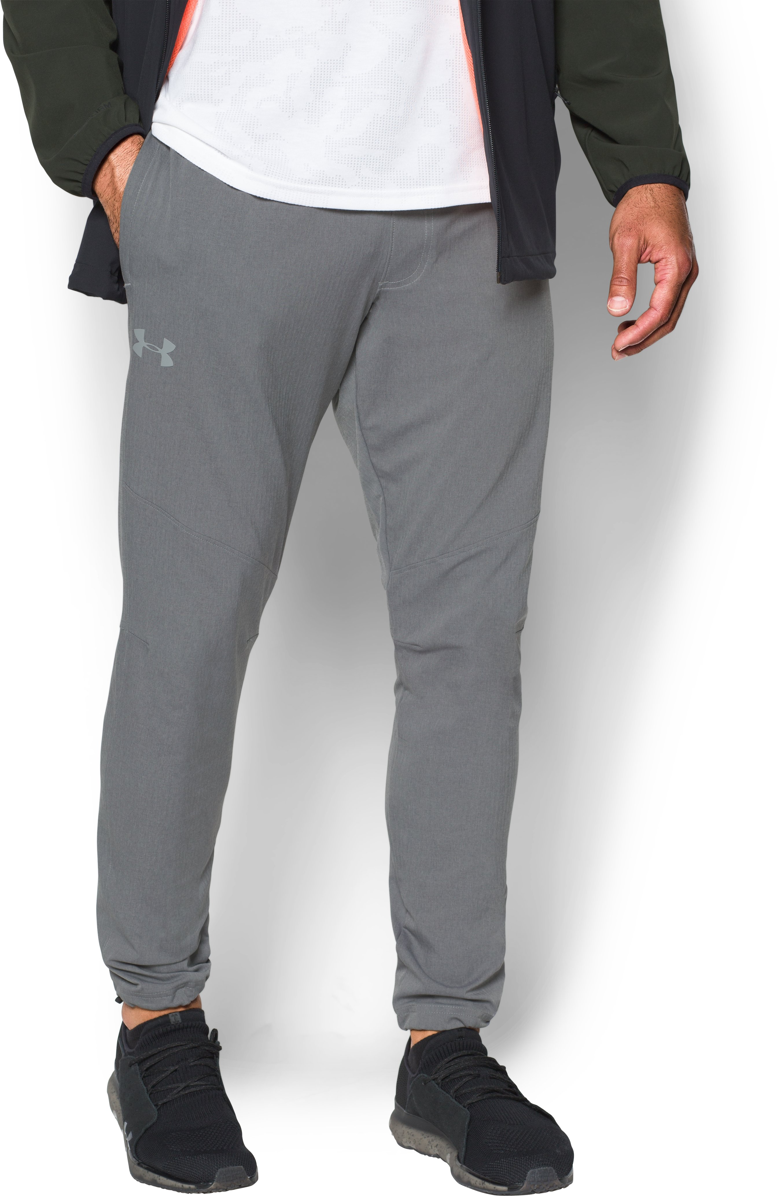 Men's UA WG Woven Pants, True Gray Heather