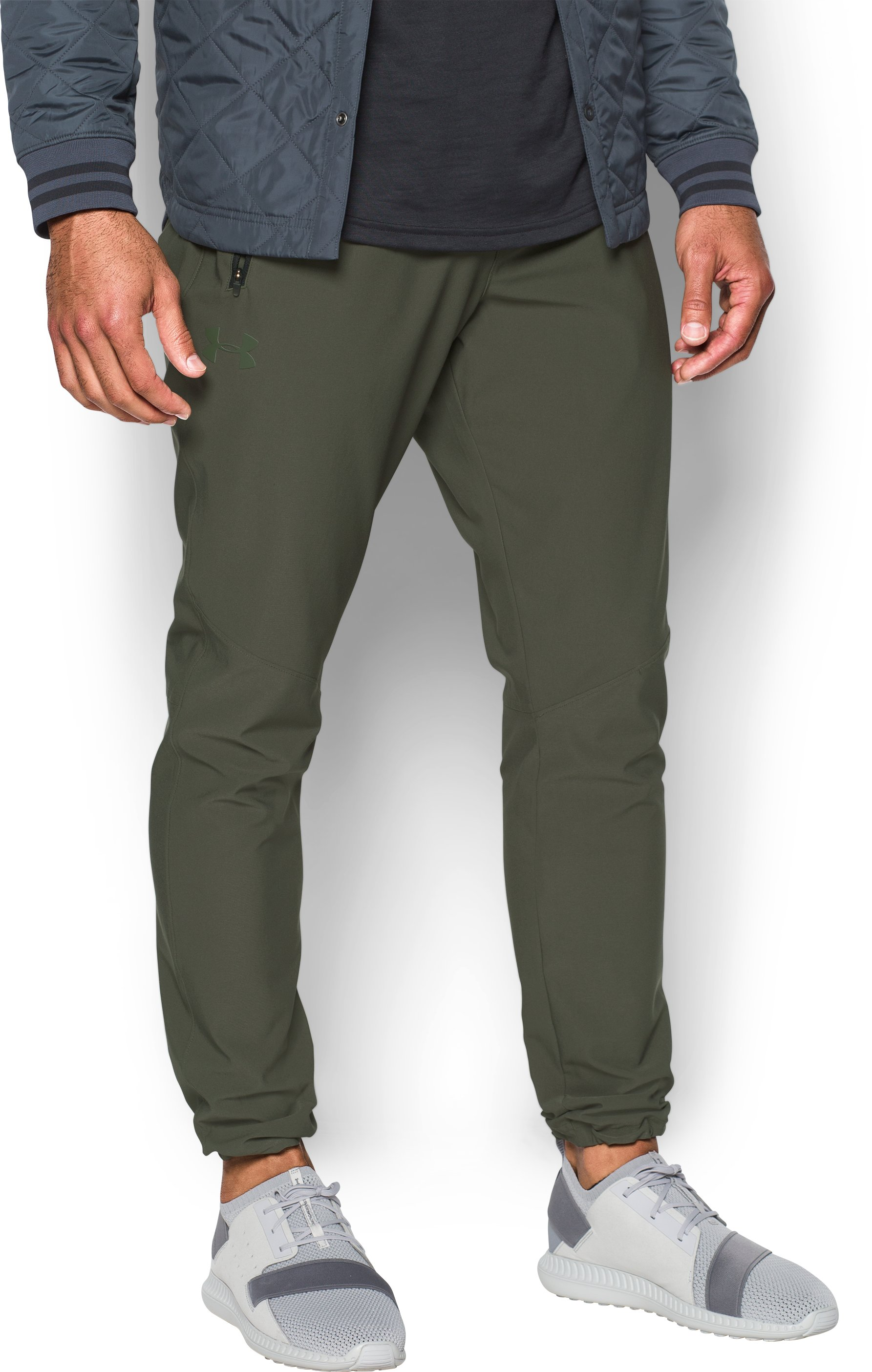 Men's UA WG Woven Pants, DOWNTOWN GREEN