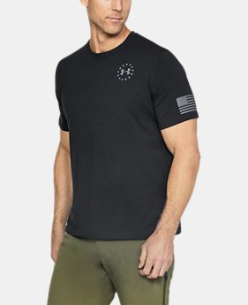 Best Seller Men's UA Freedom Flag T-Shirt  2  Colors $24.99