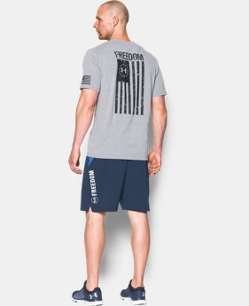 Best Seller Men's UA Freedom Flag T-Shirt  2  Colors Available $24.99