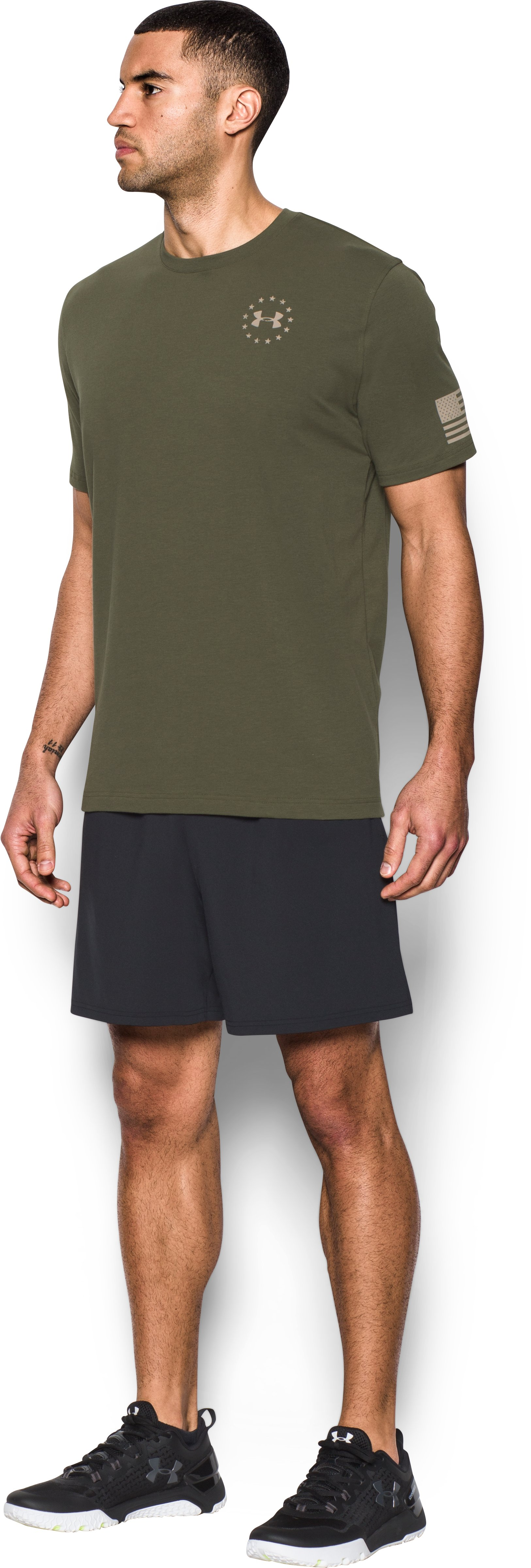 Men's UA Freedom Flag T-Shirt, Marine OD Green,