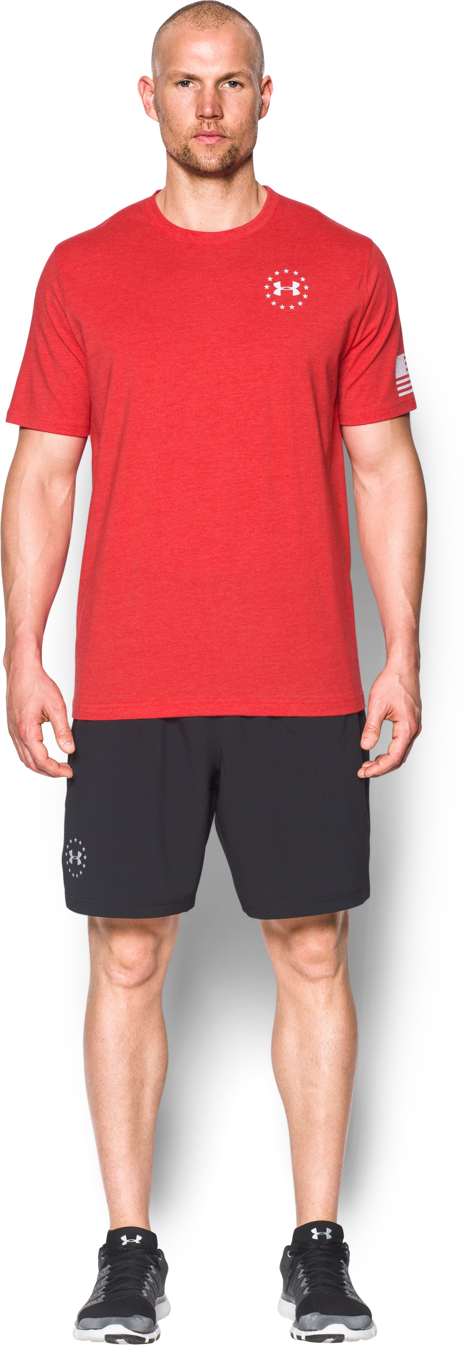 Men's UA Freedom Flag T-Shirt, Red, Front
