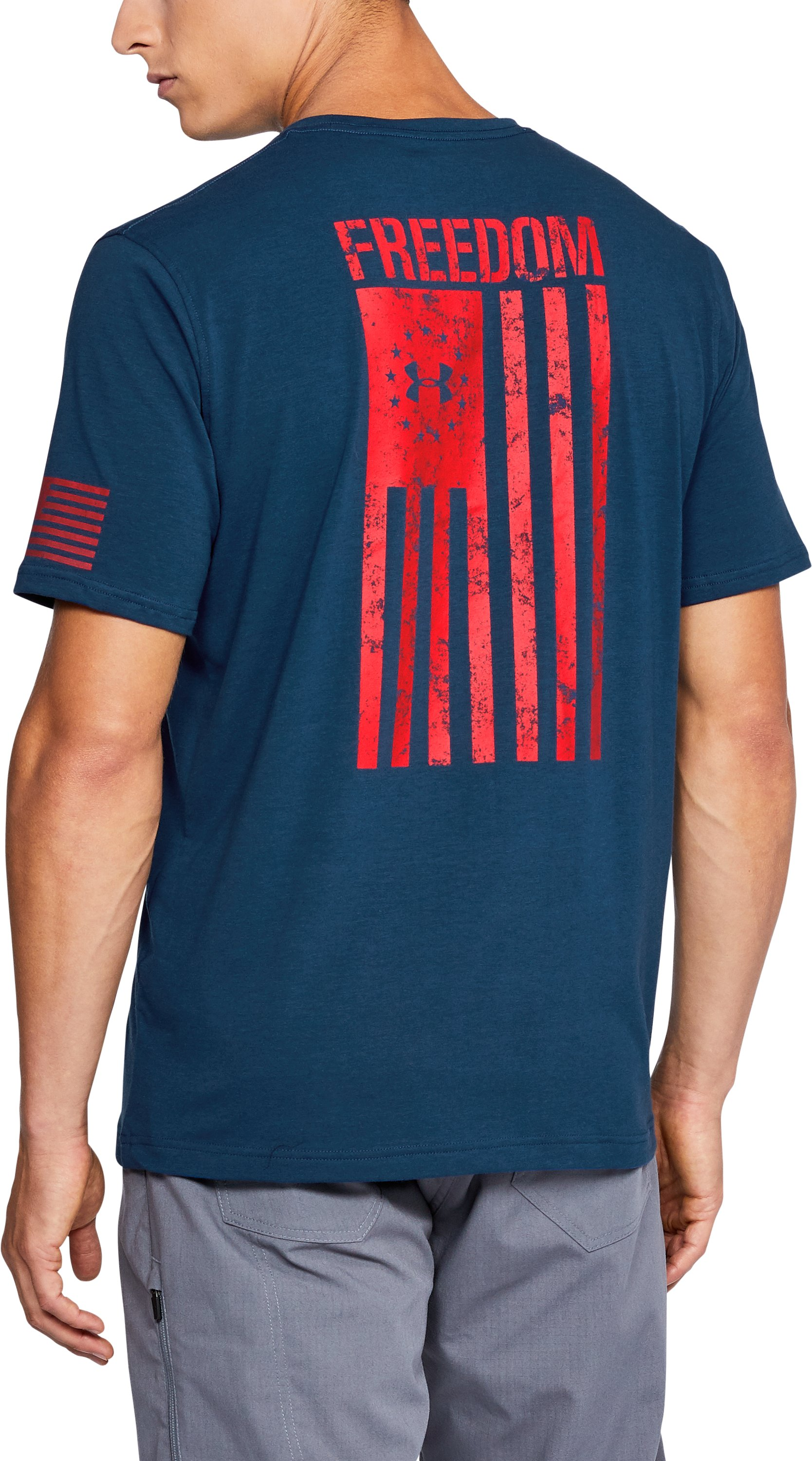 Men's UA Freedom Flag T-Shirt, BLACKOUT NAVY