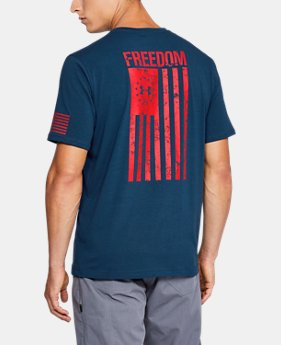 Best Seller Men's UA Freedom Flag T-Shirt  9 Colors $24.99