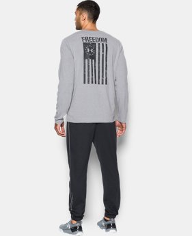 Best Seller Men's UA Freedom Flag Long Sleeve T-Shirt  1 Color $29.99