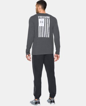 Best Seller Men's UA Freedom Flag Long Sleeve T-Shirt  3  Colors $29.99
