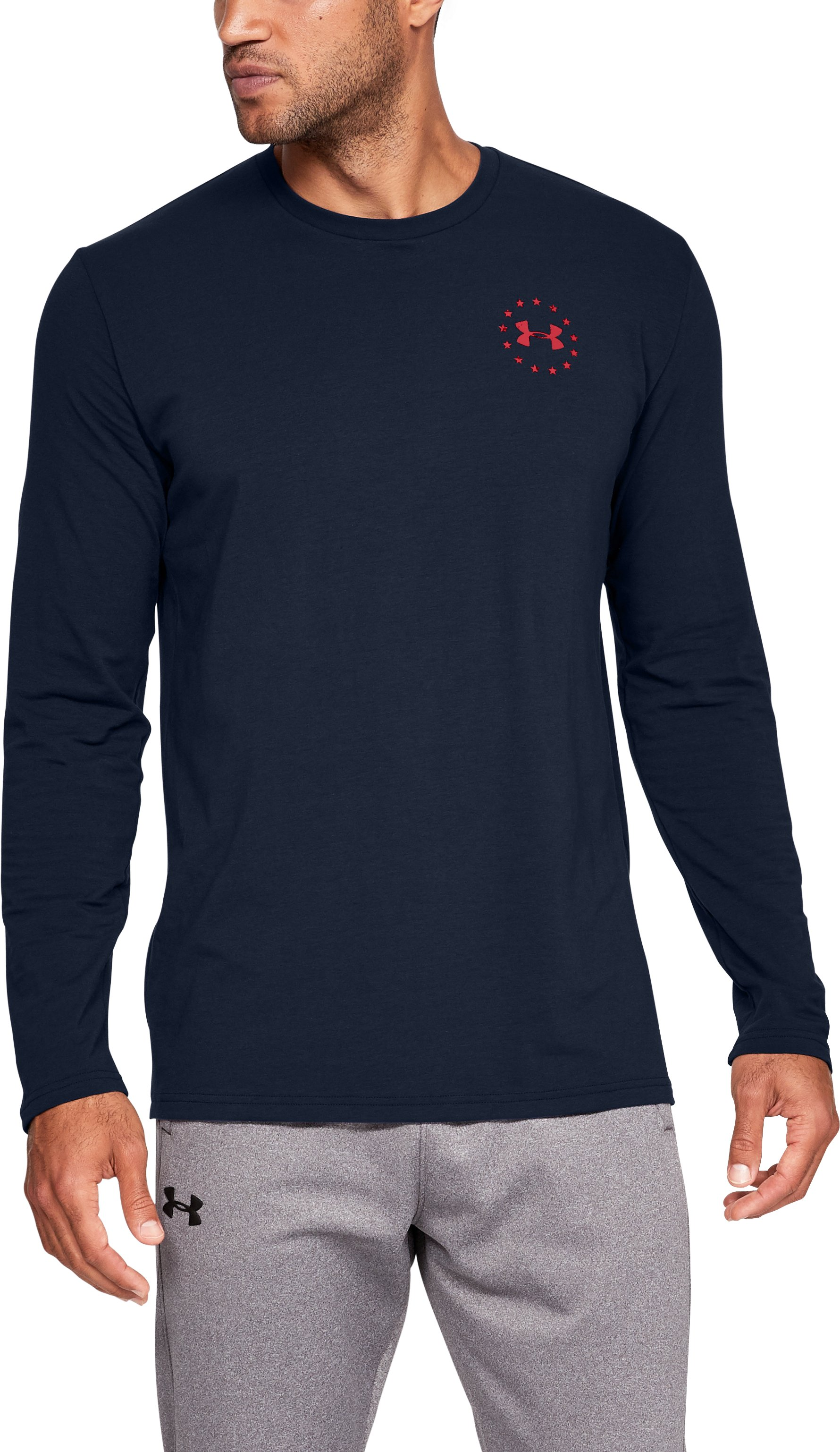 Men's UA Freedom Flag Long Sleeve T-Shirt 4 Colors $29.99