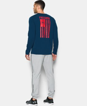 Men's UA Freedom Flag Long Sleeve T-Shirt  1  Color Available $22.49
