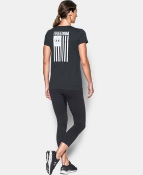 Women's UA Charged Cotton® Tri-Blend Freedom Flag T-Shirt   $29.99