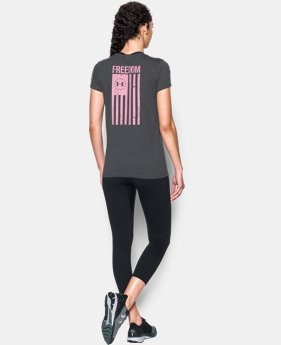Women's UA Charged Cotton® Tri-Blend Freedom Flag T-Shirt  1 Color $29.99