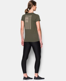 New Arrival Women's UA Charged Cotton® Tri-Blend Freedom Flag T-Shirt  1 Color $29.99
