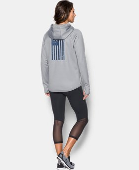 Women's UA Rival Freedom Flag Hoodie  1 Color $59.99