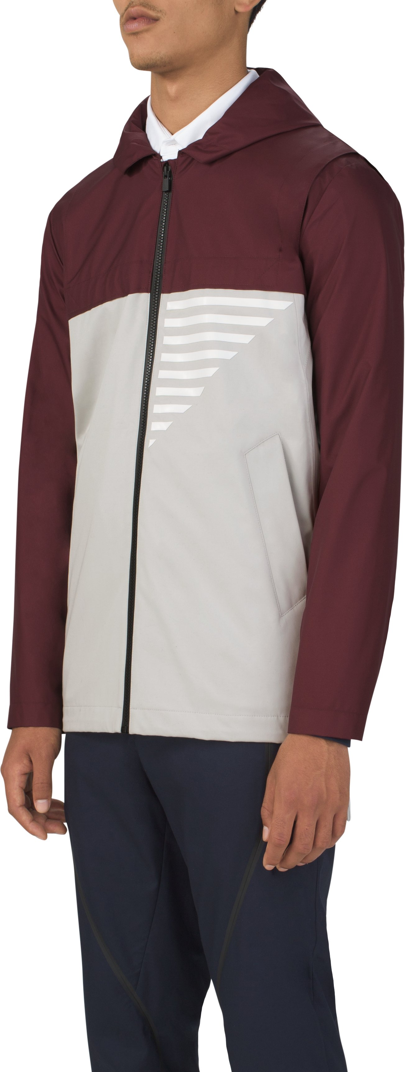 Men's UAS Coxswain Graphic Jacket, Burgundy