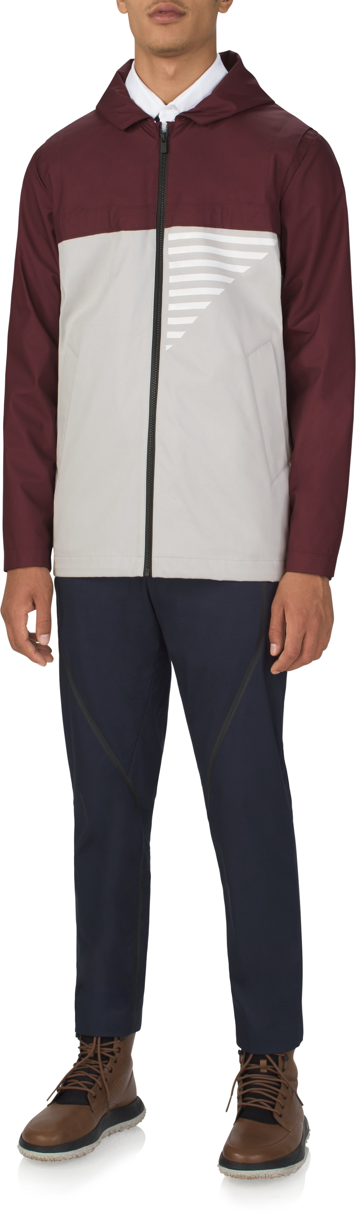 Men's UAS Coxswain Graphic Jacket, Burgundy, Front