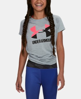 Girls' UA Big Logo T-Shirt  3  Colors Available $11.99 to $14.99