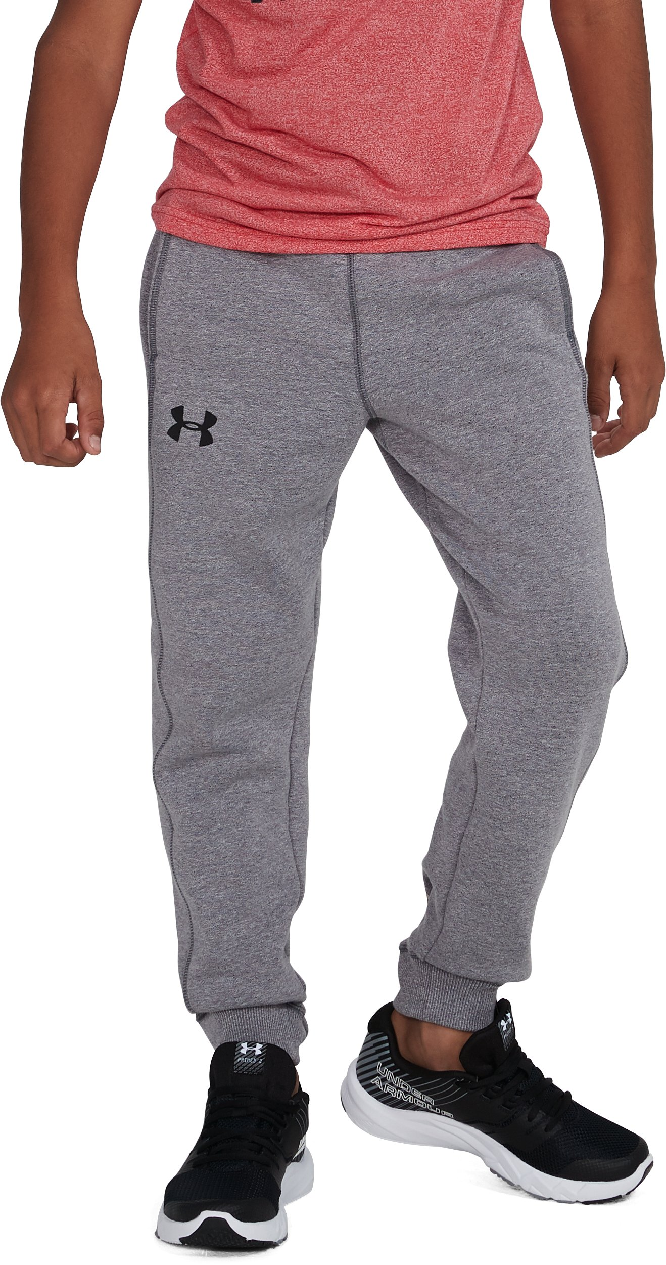 Boys' UA Threadborne™ Jogger, STEEL LIGHT HEATHER, undefined