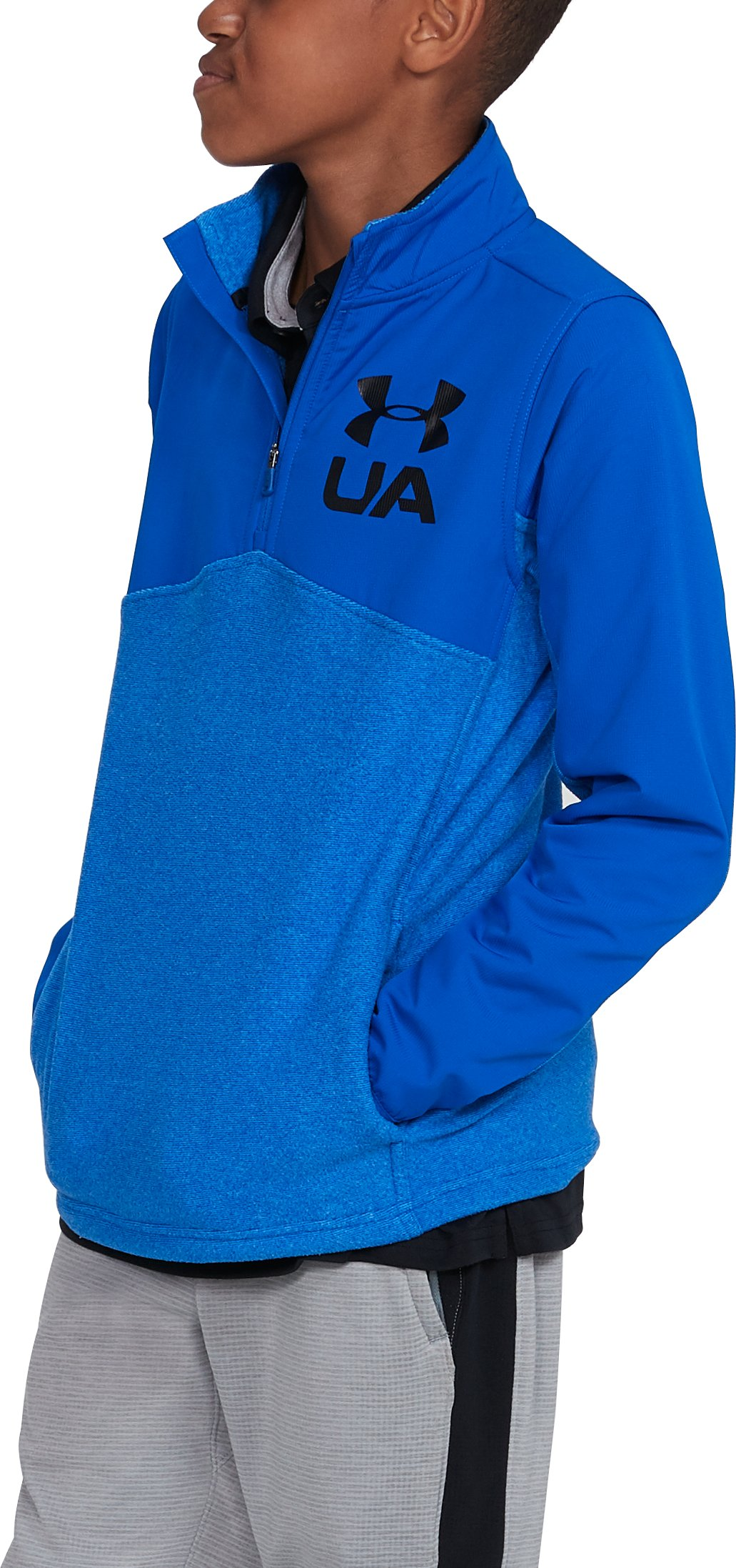 Boys' UA Phenom ¼ Zip, ULTRA BLUE,