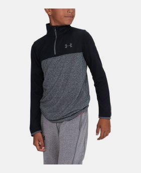 e12bc525 Boys' UA Threadborne™ ¼ Zip 5 Colors Available $20.99 to $26.99