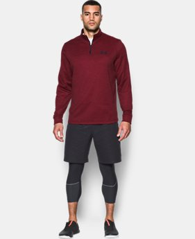 New to Outlet Men's Armour Fleece® Lightweight ¼ Zip  1 Color $54.99