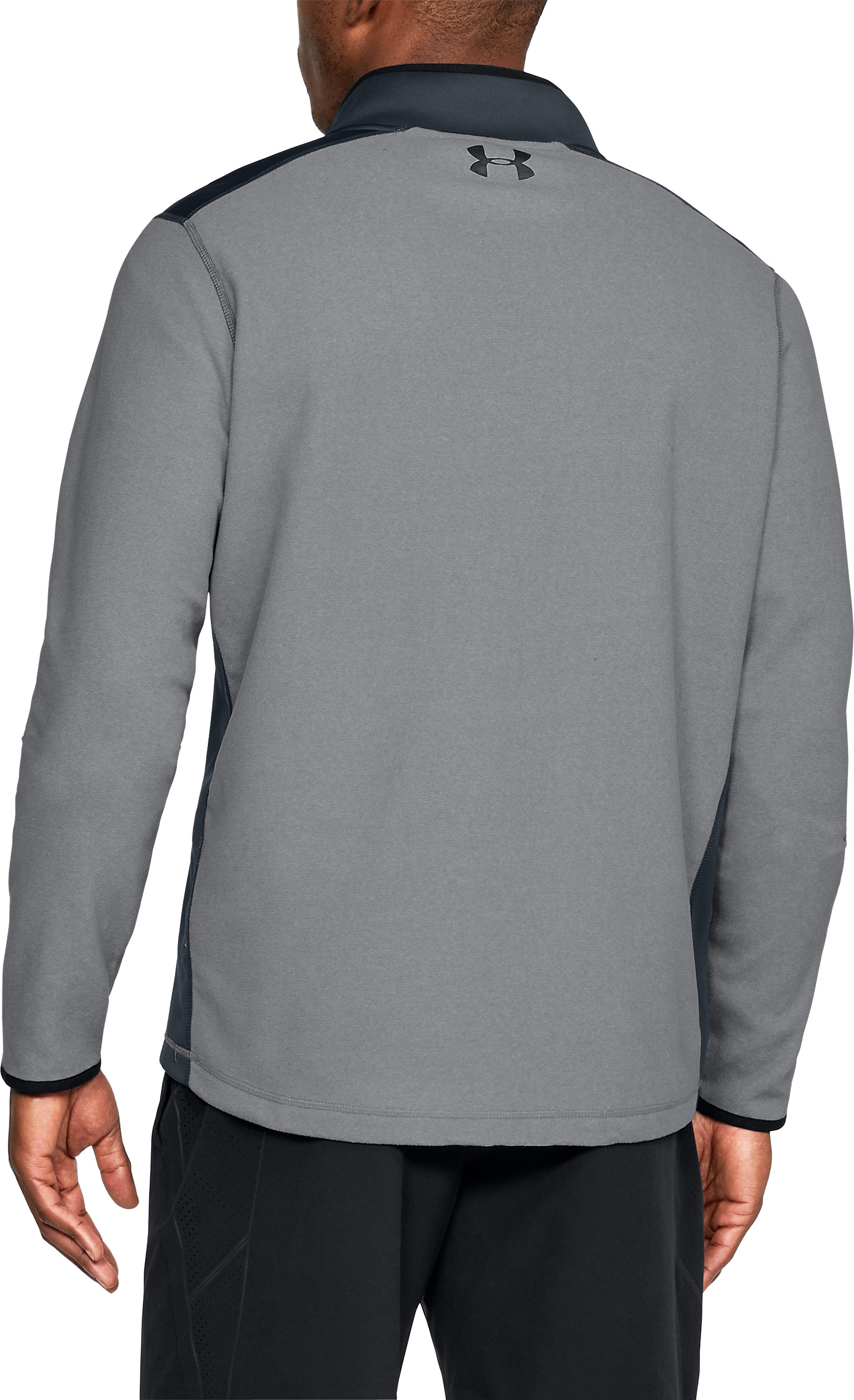 Men's ColdGear® Infrared Fleece ¼ Zip, Graphite,
