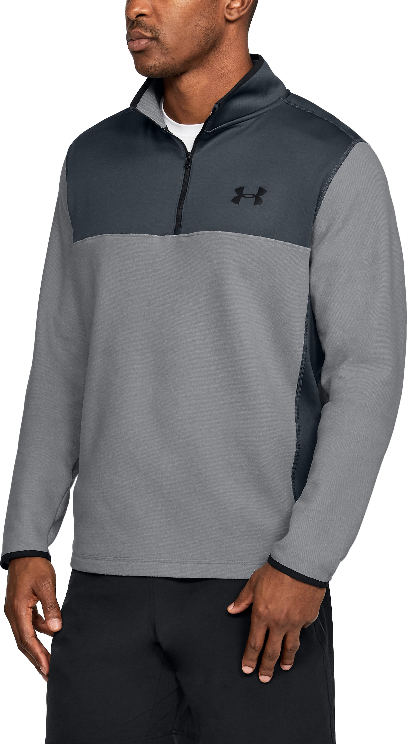 Men's ColdGear® Infrared Fleece ¼ Zip, Graphite
