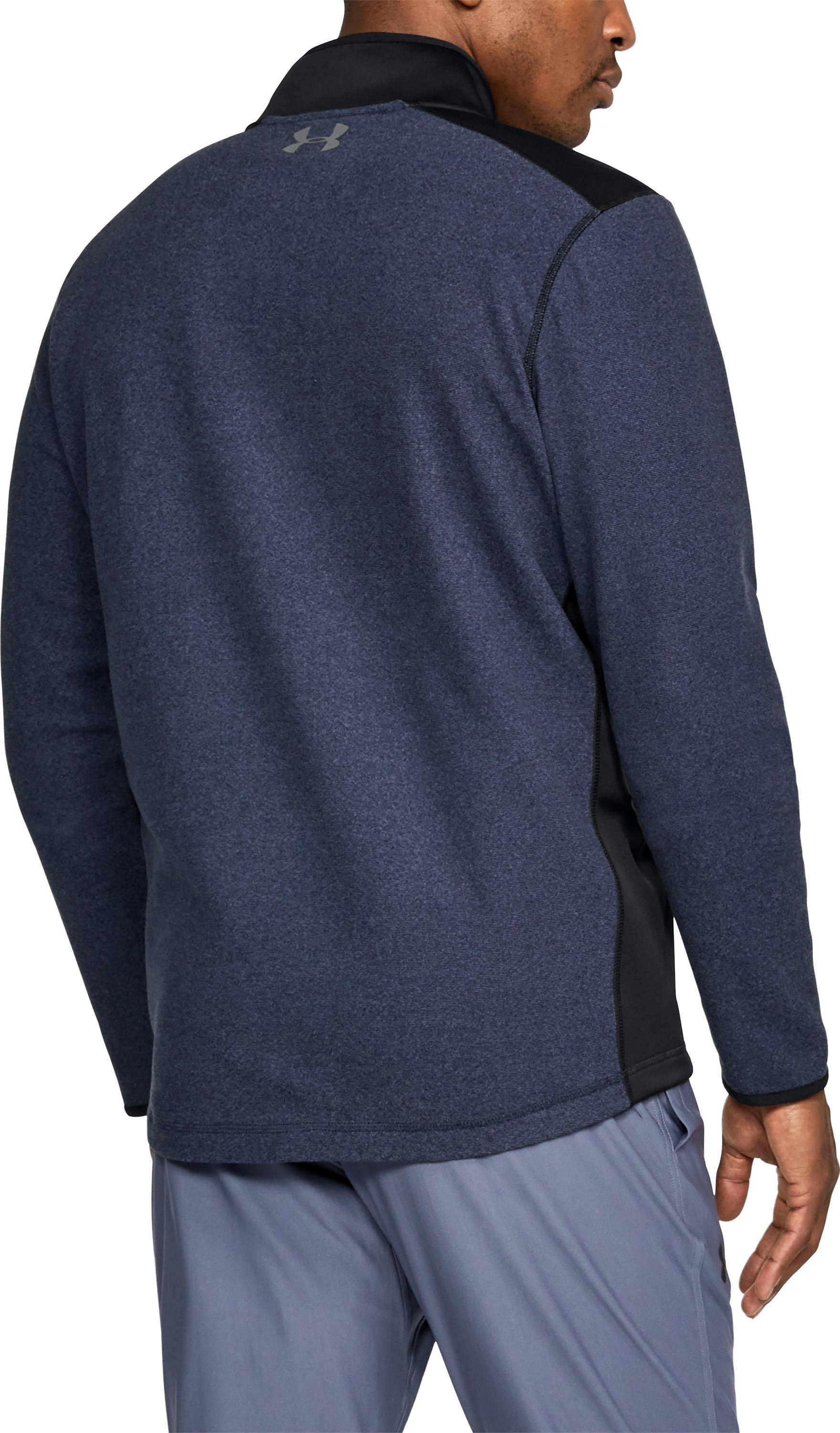 Men's ColdGear® Infrared Fleece ¼ Zip, Midnight Navy, undefined