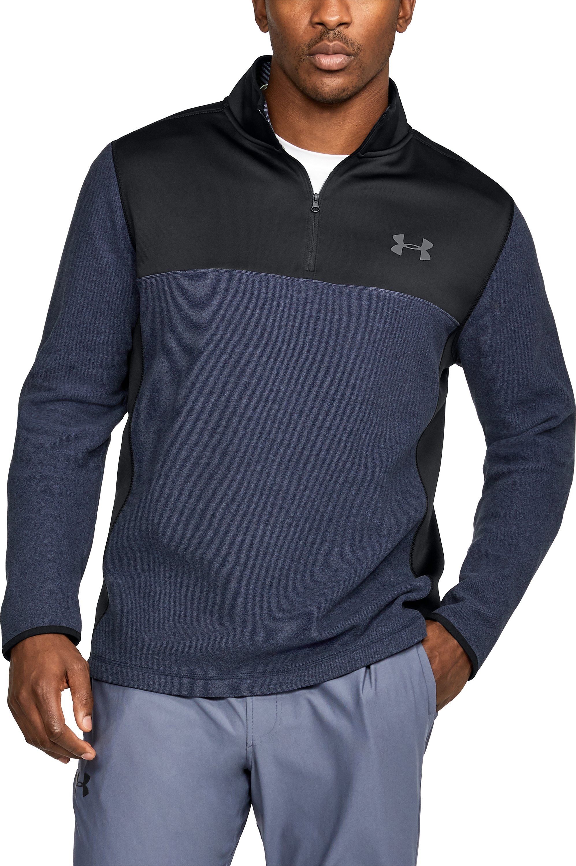 Men's ColdGear® Infrared Fleece ¼ Zip, Midnight Navy