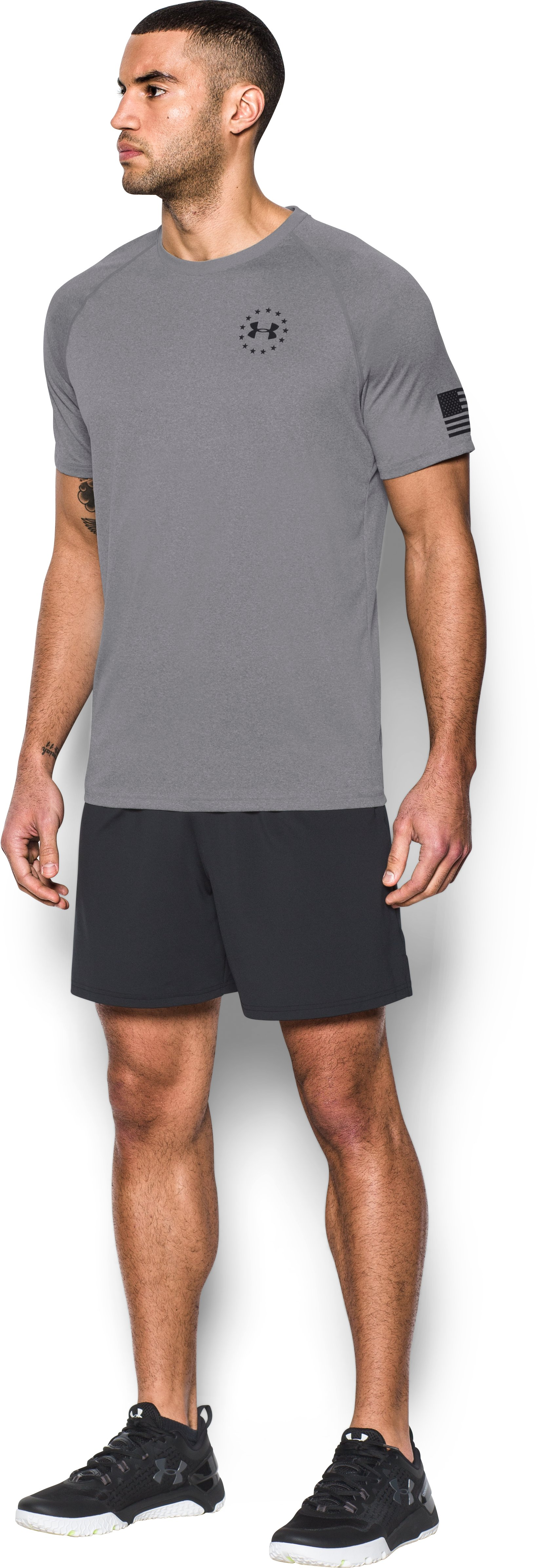 Men's UA Freedom Tech™ T-Shirt, True Gray Heather, undefined
