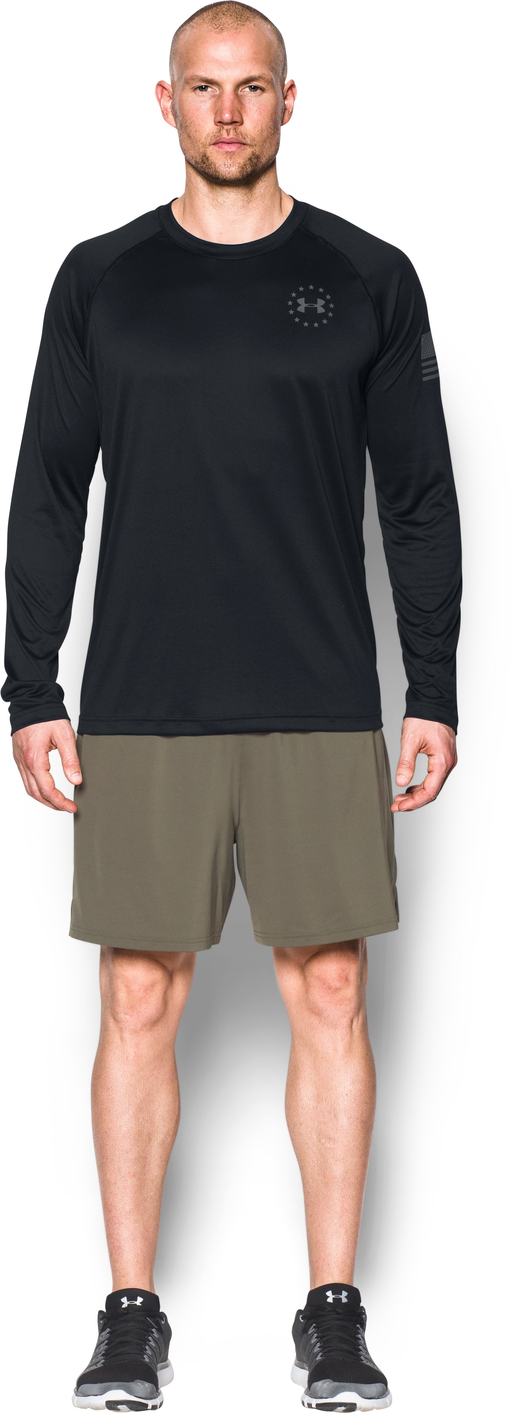 Men's UA Freedom Tech™ Long Sleeve T-Shirt, Black , Front