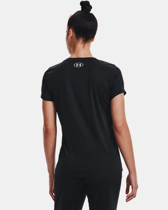 Women's UA Velocity V-Neck Short Sleeve, Black, pdpMainDesktop image number 2