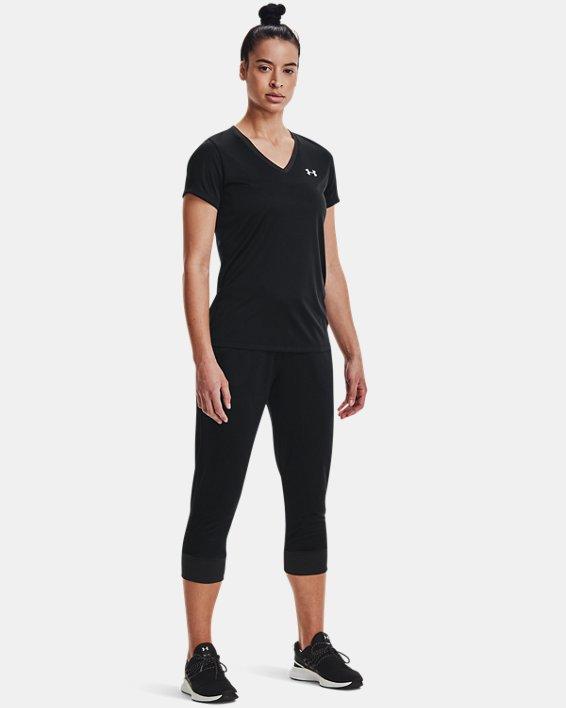 Women's UA Velocity V-Neck Short Sleeve, Black, pdpMainDesktop image number 1