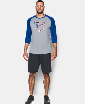 New Arrival Men's UA Plate Logo ¾ Sleeve T-Shirt  3 Colors $29.99