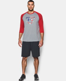Men's UA Plate Logo ¾ Sleeve T-Shirt  2  Colors Available $17.99