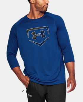 Men's UA Plate Logo ¾ Sleeve T-Shirt  1 Color $29.99