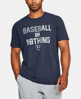 Men's UA Baseball Or Nothing T-Shirt  1 Color $24.99