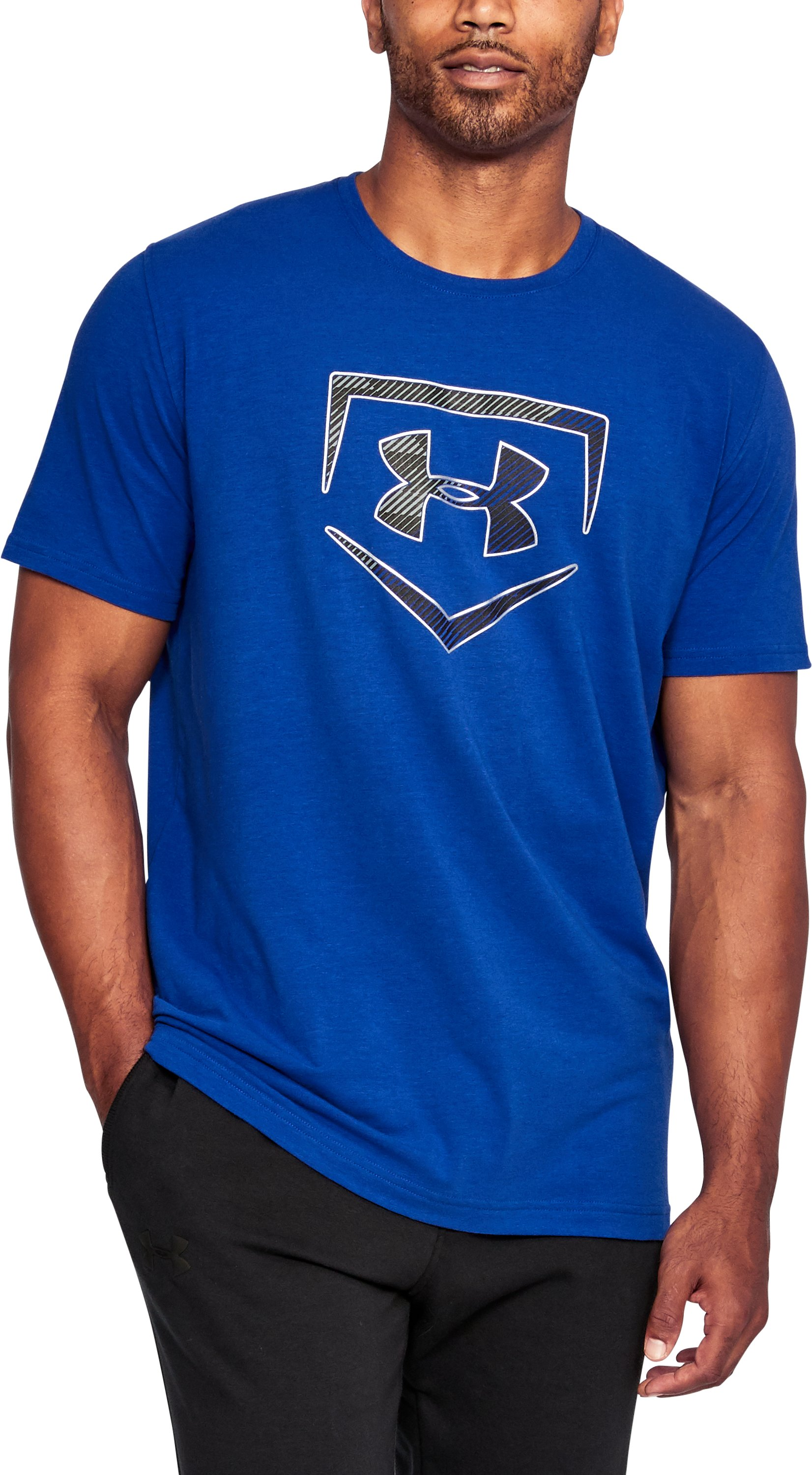 Men's UA Plate Logo T-Shirt, Royal, undefined