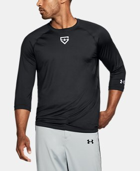 New Arrival Men's UA Heater ¾ Sleeve T-Shirt  1 Color $39.99