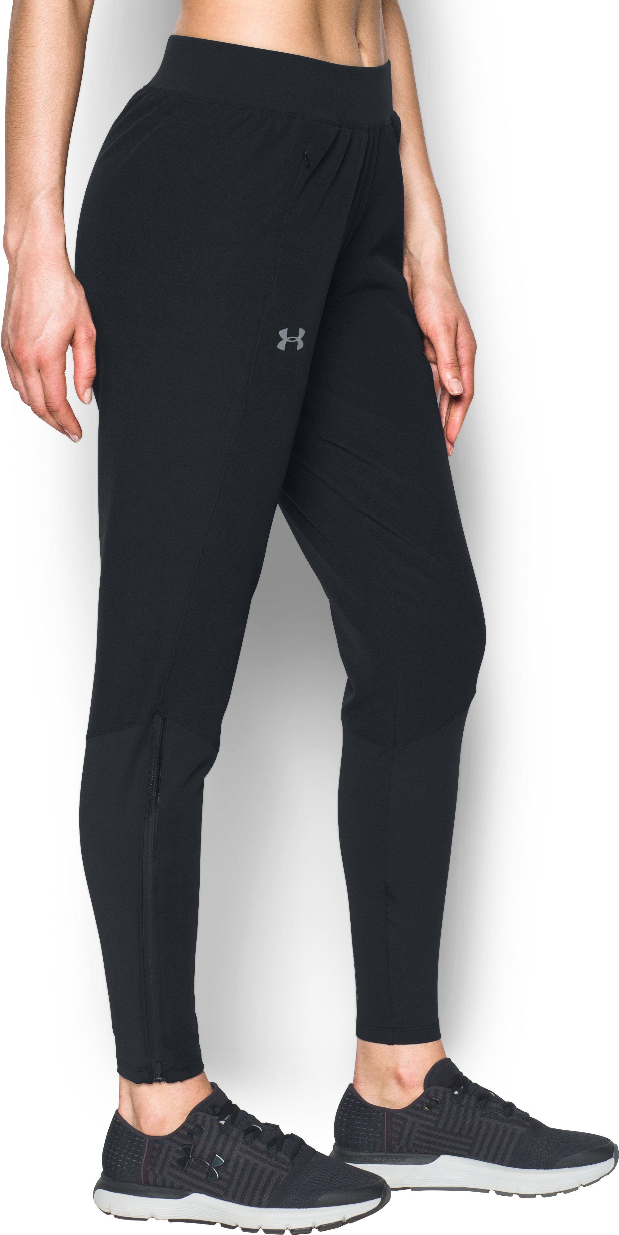 Women's UA Pick Up The Pace Hybrid Pants, Black ,