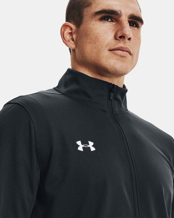 Men's Challenger Knit Warm-Up, Gray, pdpMainDesktop image number 0