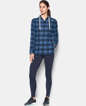 Women's UA Borderland Flannel Swacket  1 Color $84.99