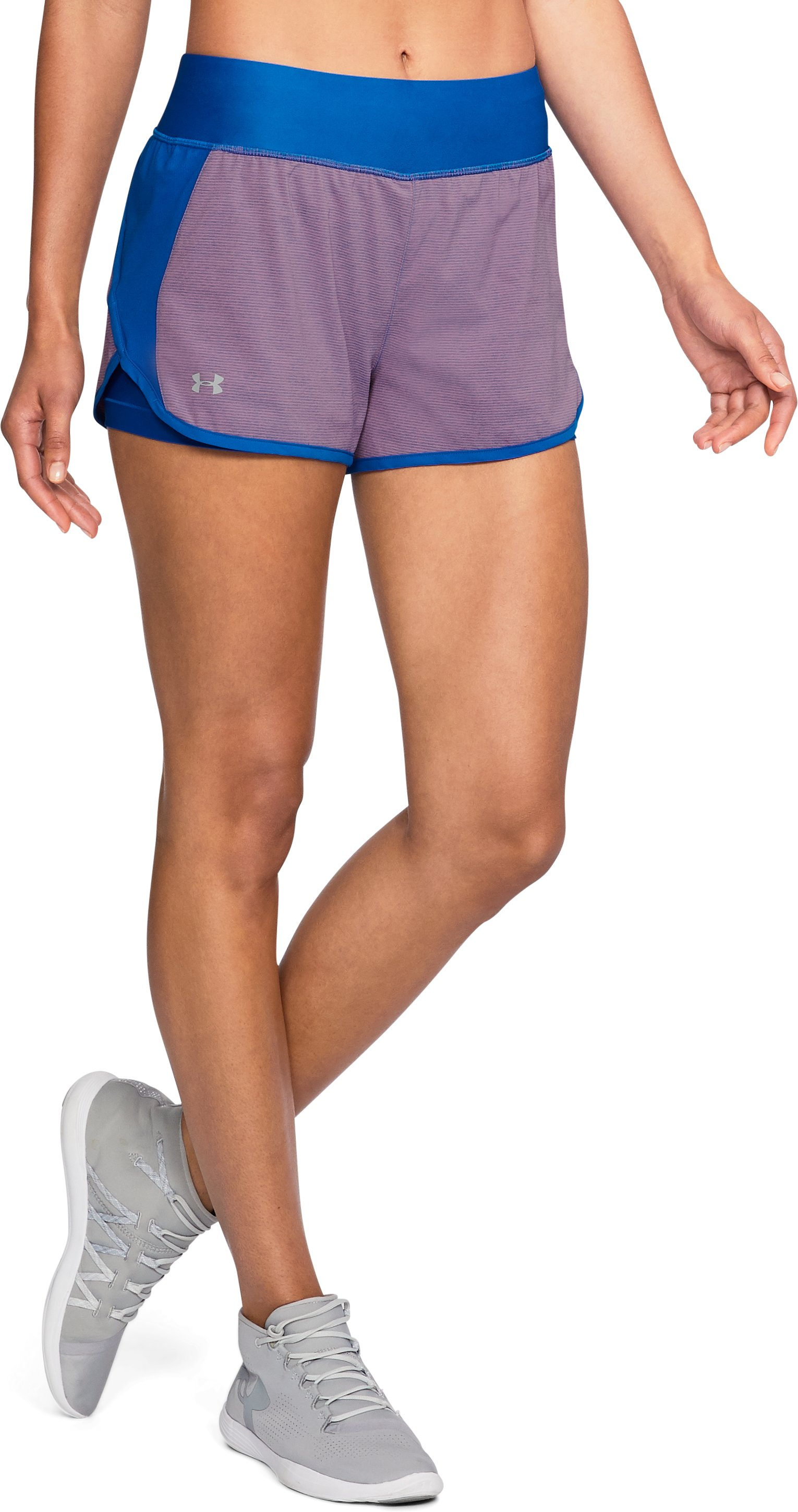 Women's UA Launch Tulip 2-in-1 Shorts, LAPIS BLUE,