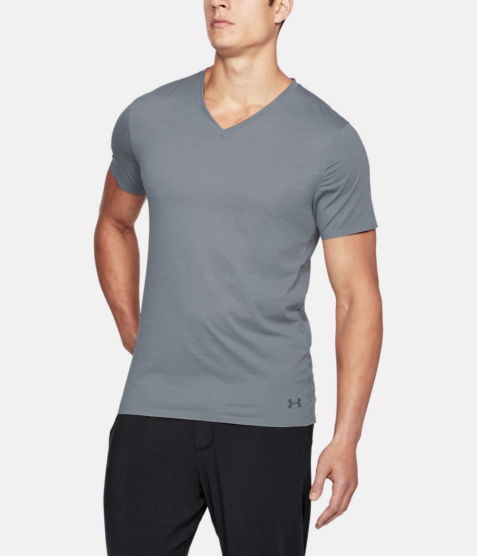 Men 39 s armourvent mesh series v neck undershirt under for Mens under armour under shirt