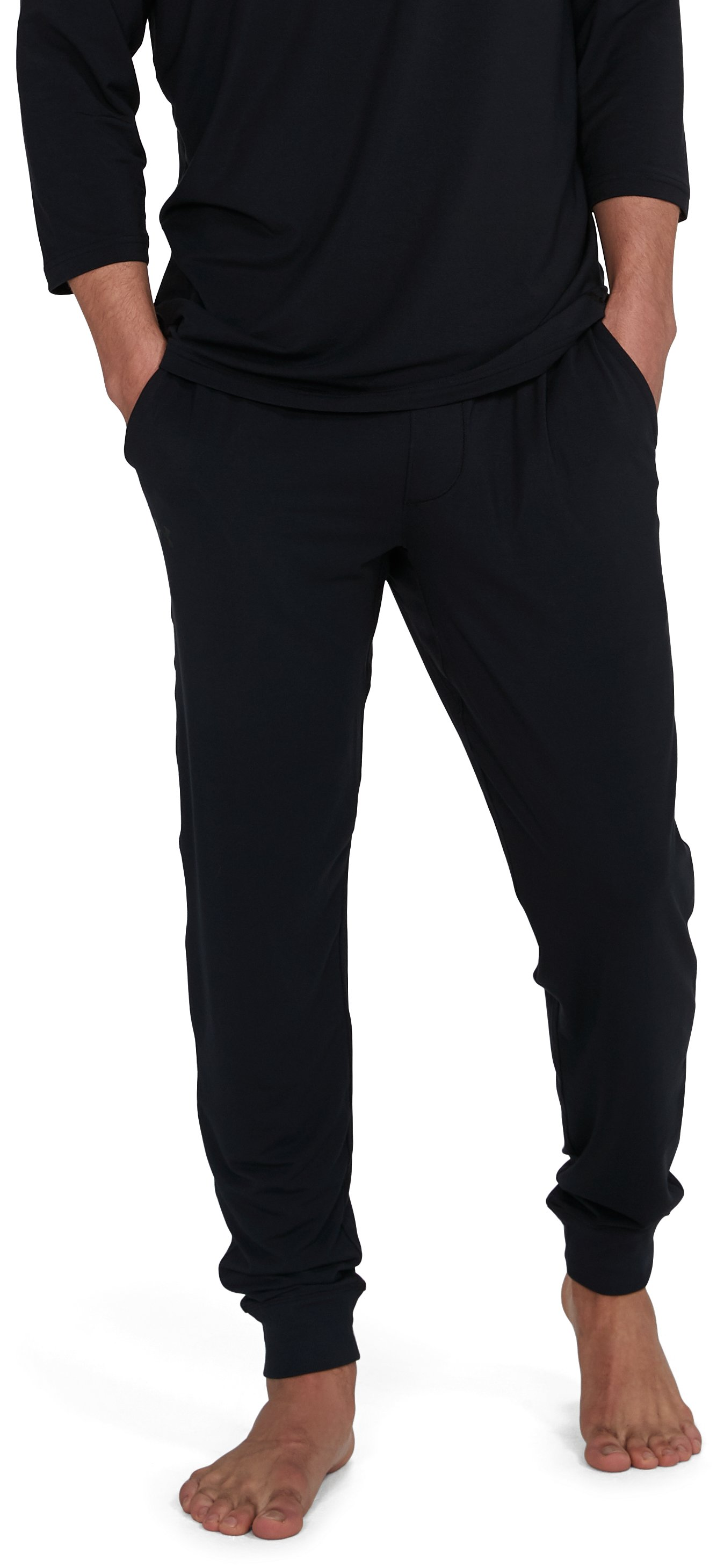 Men's Athlete Recovery Ultra Comfort Sleepwear Pants, Black , undefined