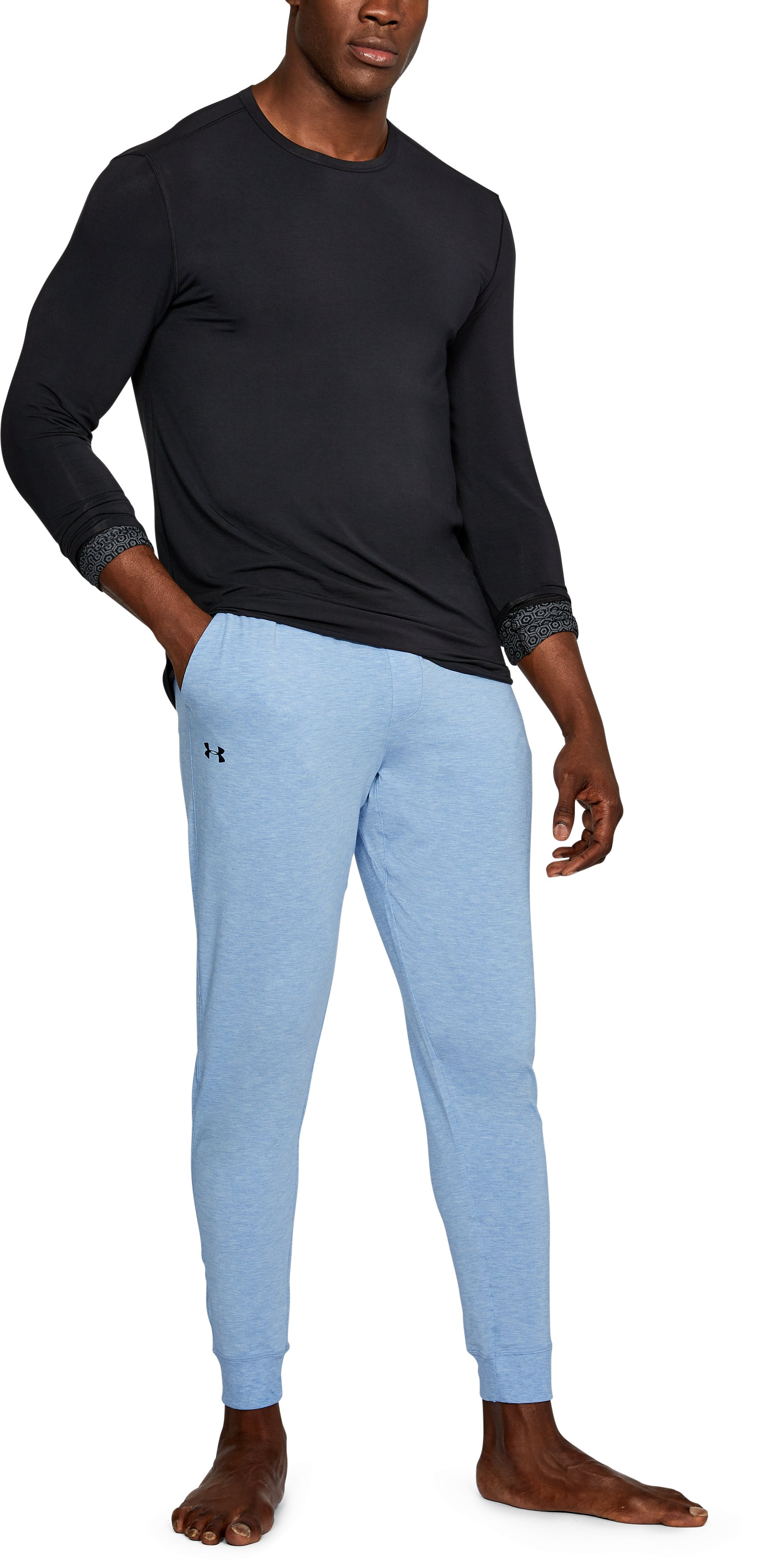 Men's Athlete Recovery Ultra Comfort Sleepwear Pants, WATER MEDIUM HEATHER,