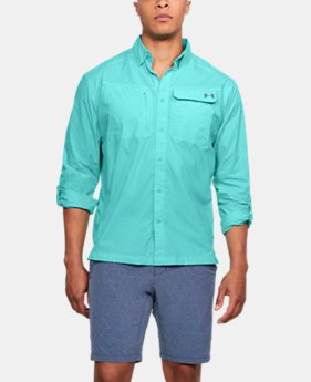 Men's UA Fish Hunter Solid Long Sleeve  6 Colors $70