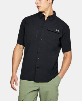 Men's UA Fish Hunter Solid Short Sleeve  1 Color $59.99