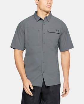 Men's UA Fish Hunter Solid Short Sleeve  4 Colors $44.39 to $44.99