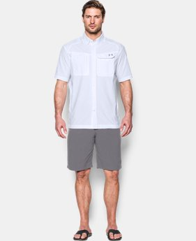Men's UA Fish Hunter Solid Short Sleeve  3 Colors $44.99
